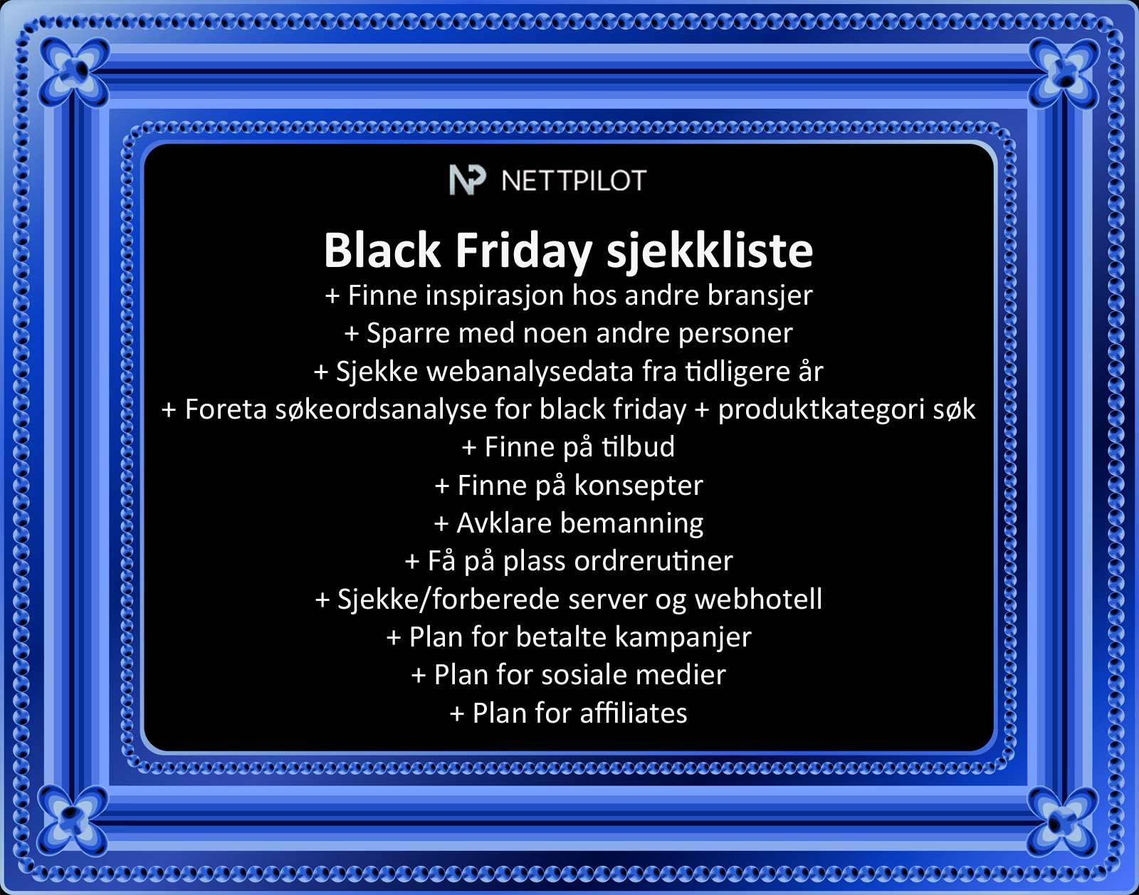 Gjør din nettbutikk klar for Black Friday
